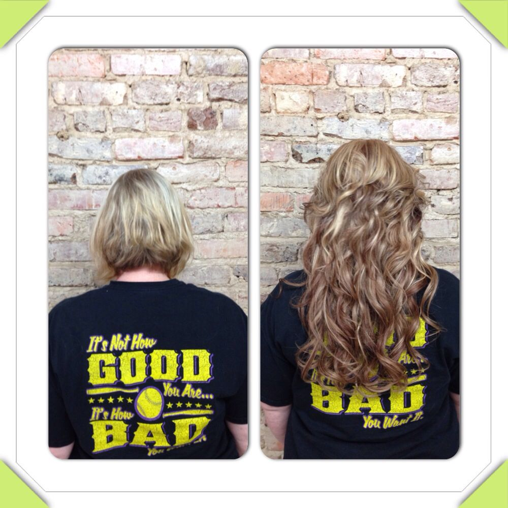 Beforeafter tape in hair extensions tape in hair