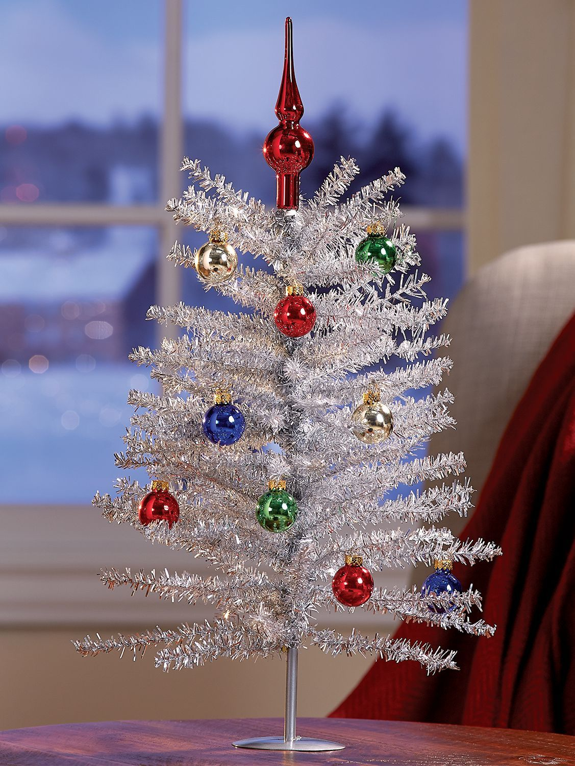 Give Every Corner Of Your Home A Little Holiday Sparkle Silver Tinsel Tree Christmas Tree Sale Mini Christmas Tree