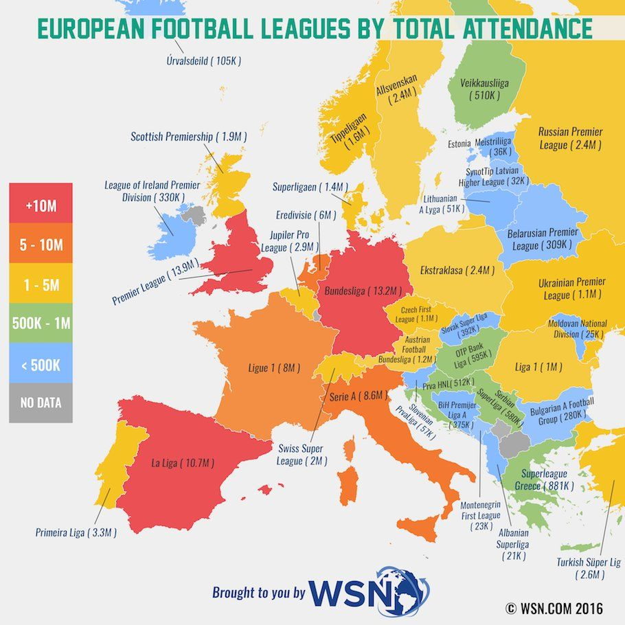 Amazing Maps On Attendance - Maps soccer