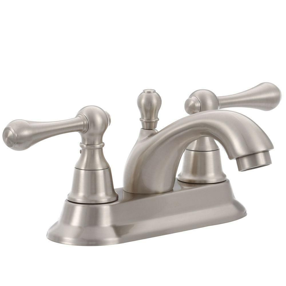 This Pegasus 1000 Series 4 in. 2-Handle Bathroom Faucet in Brushed ...