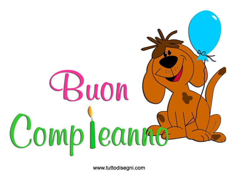 Buon Compleanno Cane Printable Pinterest Happy Birthday