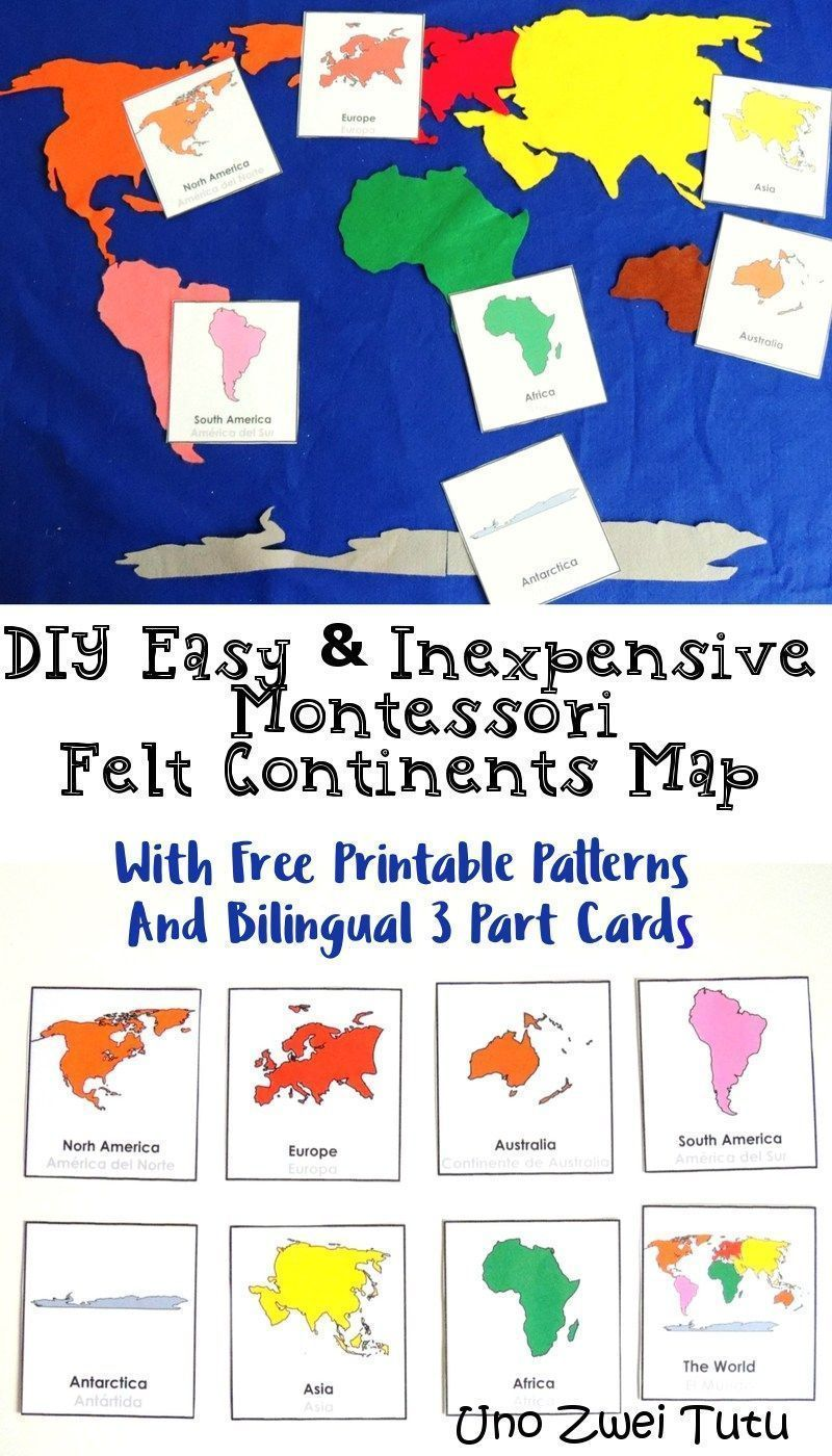 This montessori felt continents map is an easy and inexpensive diy this montessori felt continents map is an easy and inexpensive diy project to explore geography with gumiabroncs Gallery