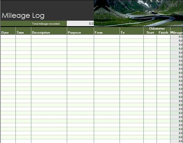 Mileage Log Template 30 Mileage Chart Pinterest Logs and - free log templates