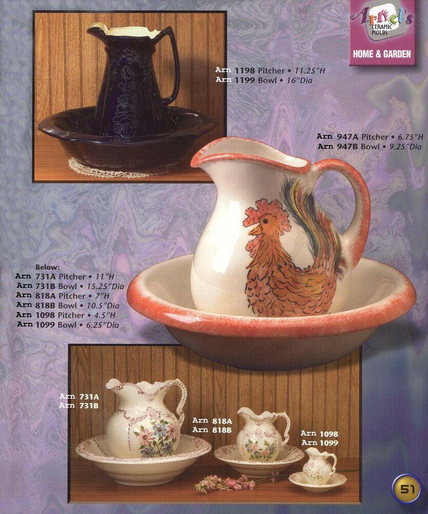 Arnels 731a Lace Scroll Pitcher Home Decor Accessory Vintage Ceramic Mold Arnels Ceramic Molds Decorative Accessories Home Decor Accessories