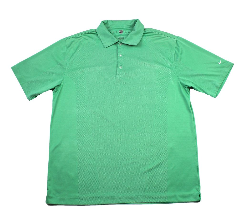 Nike Golf Fit Dry Green Polyester Polo Shirt Mens Size Large