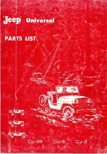 parts list jeep universal cj3b cj5 cj6 and dispatcher dj3a rh pinterest com Jeep CJ5 Parts Willys Jeep Parts