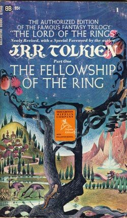 Ballantine Press Official Fellowship Of The Ring Cover Art By