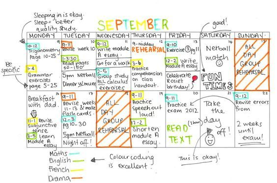 What an awesome study timetable should look like NURSING - study timetable