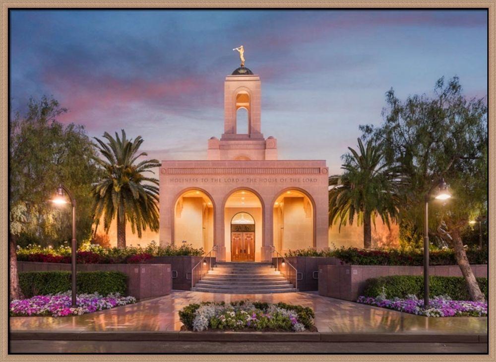 Covenant Path Temple: Newport Beach Temple (30x41 Framed Canvas