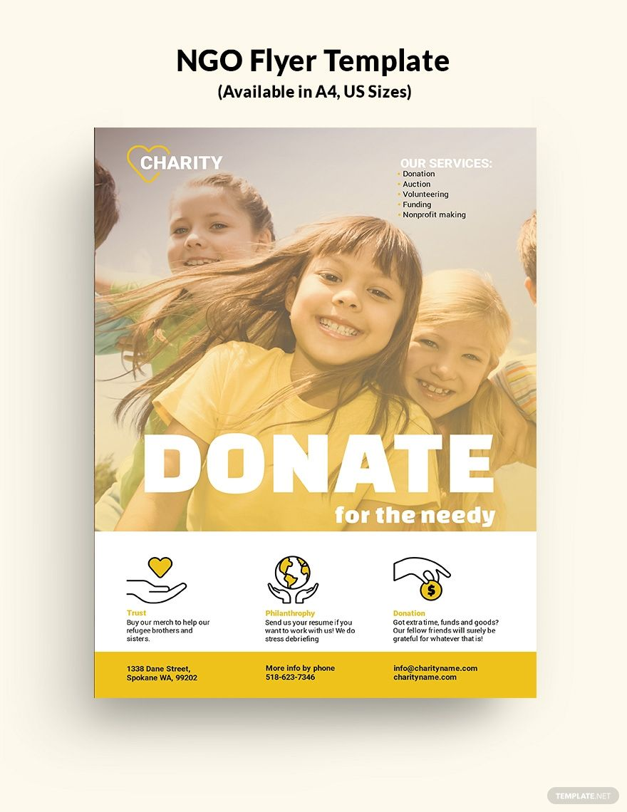 NGO Flyer Template – Illustrator, InDesign, Word, Apple Pages, PSD Intended For Ngo Brochure Templates