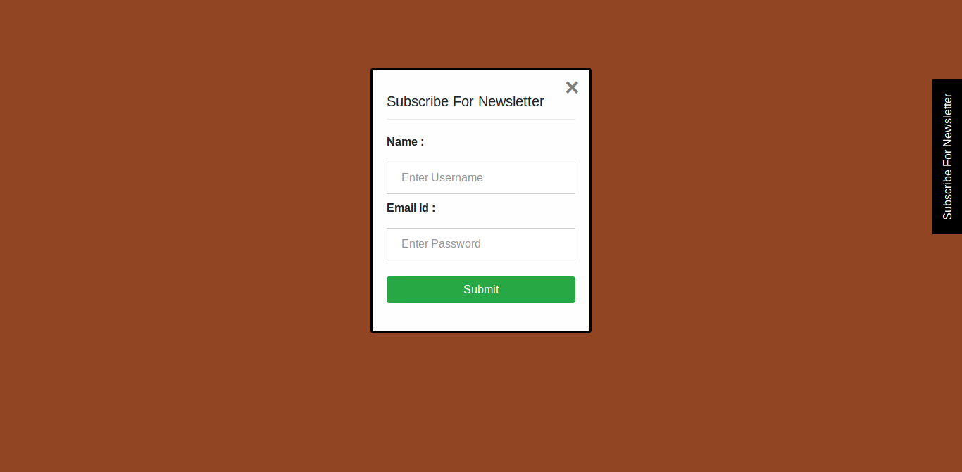 Right Side Sticky Button With Bootstrap Modal | NiceSnippets com