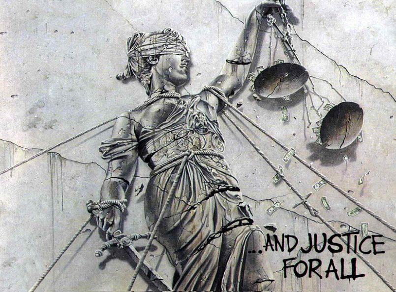 And Justice For All Cover Art By Stephen Gorman Copertina Dell Omonimo Album Dei Mettalica Del 1988 Metallica Albums Iconic Album Covers Metal Albums