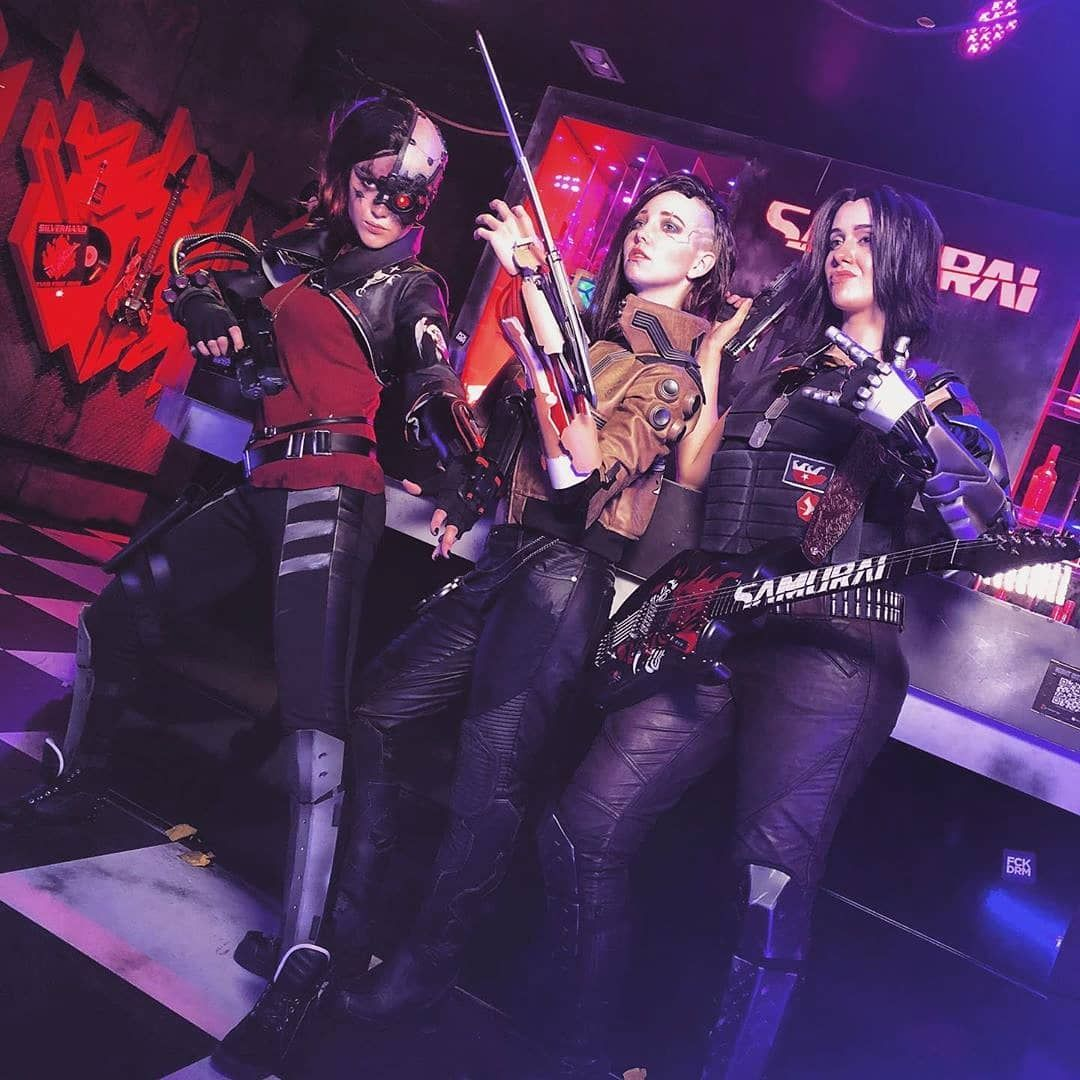 Here are the top 3 winners of the CyberpunkCosplayContest
