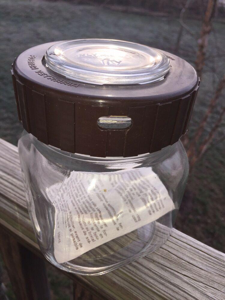 Vintage Clear Glass Preserving Jar Per Alimenti Made In Italy Fidenza Vitraria Plastic Mason Jar Lids Glass Stash Jar Plastic Mason Jars
