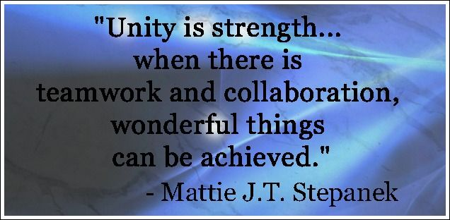 Unity Is Strength Xpose South Africa Quotes Building