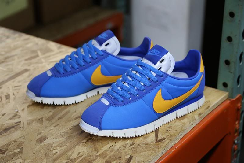 pretty nice 87382 104df Nike Cortez NM (Natural Motion) edition dressed in Italy Blue base with  University Gold and Metallic Silver accents.