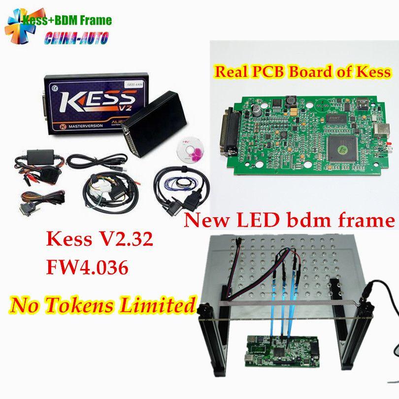 DHL Free!! KESS V2 V2 32 V6 070 ECU Programming + LED BDM