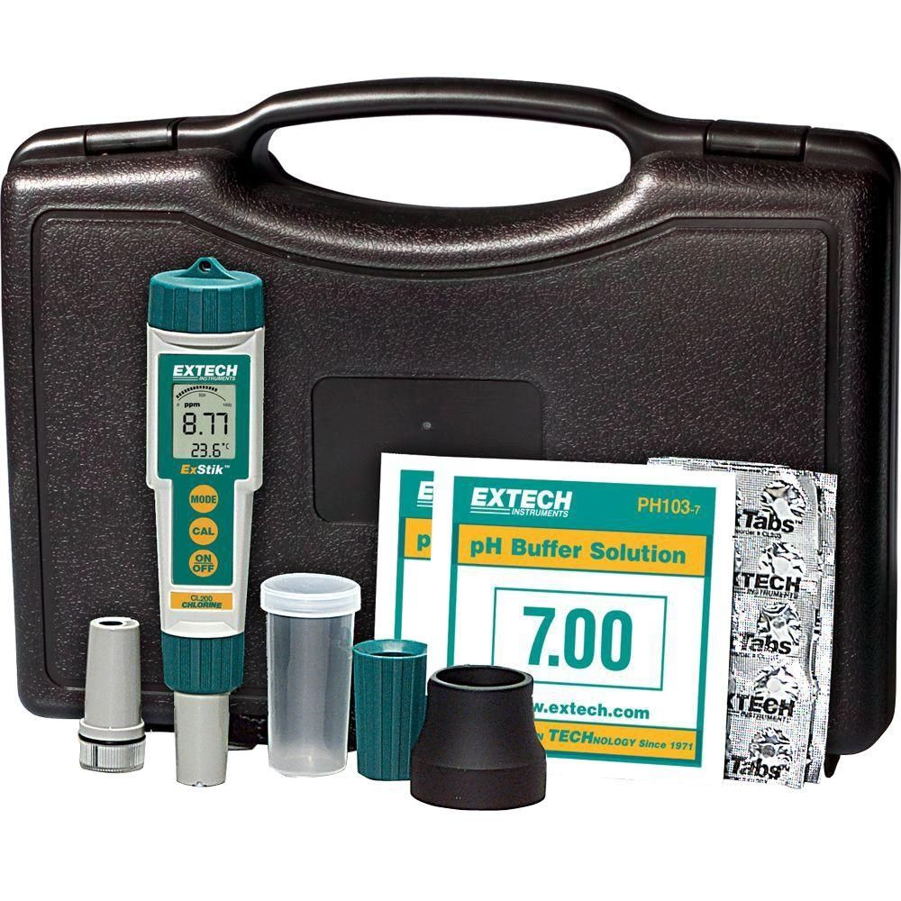 Extech Instruments Exstik 3in1 Kit (CL, pH, Temp)EX800