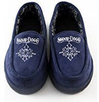 Snoop Dogg House Shoe Navy Small Navy Slippers Dress Shoes