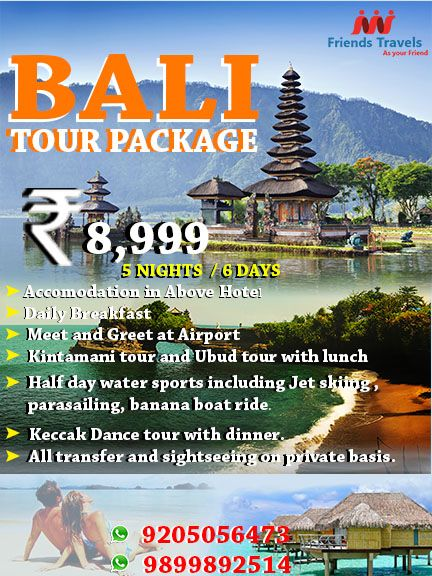 Bali Tour Package  Days  Nights