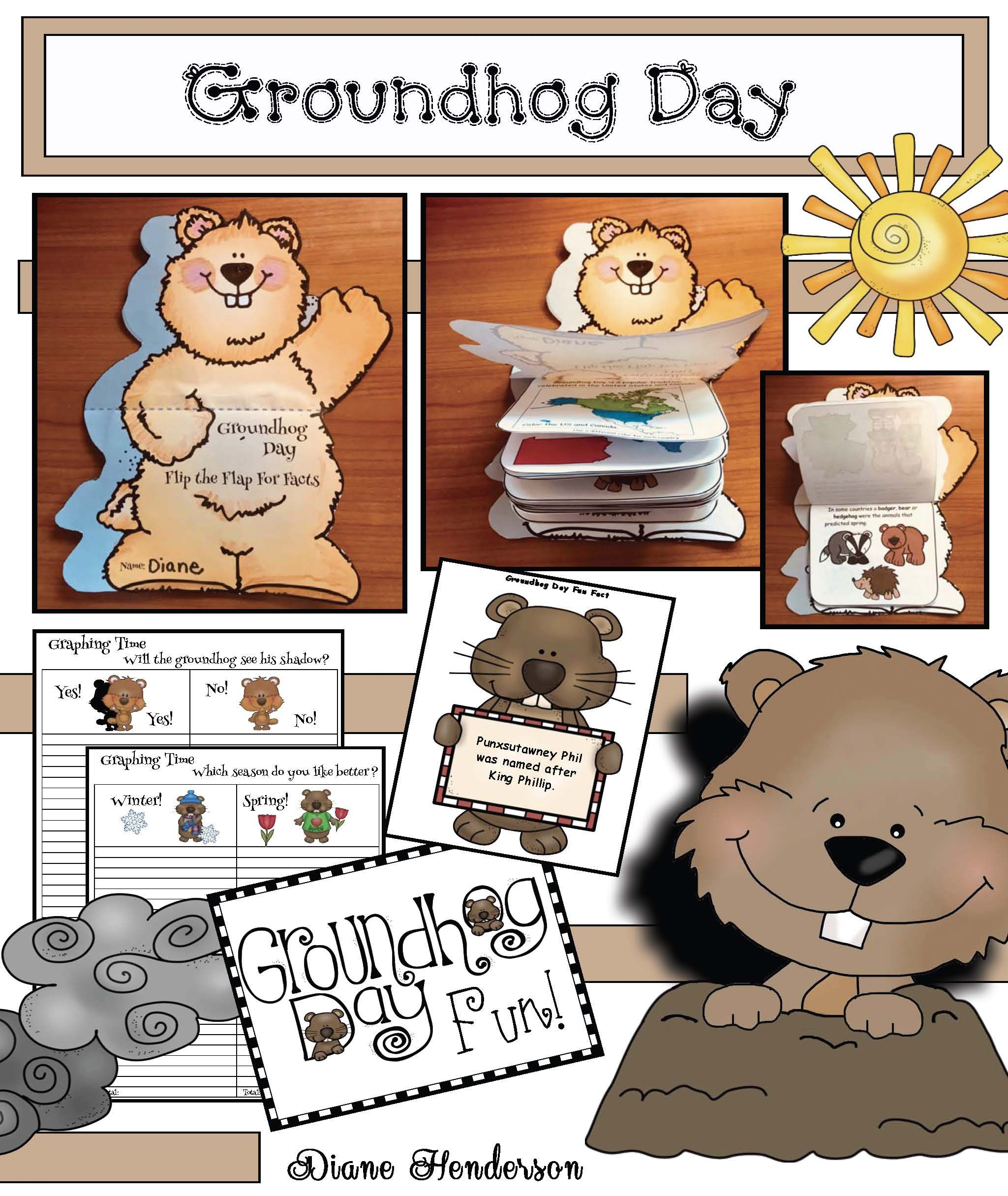 Groundhog Fun Facts Groundhog Crafts Pictures Of Real