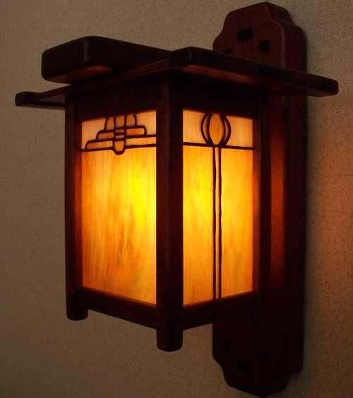 Arts Crafts Greene And Greene Style Wall Sconce Craftsman Lighting Craftsman Style Interiors Exterior Wall Light