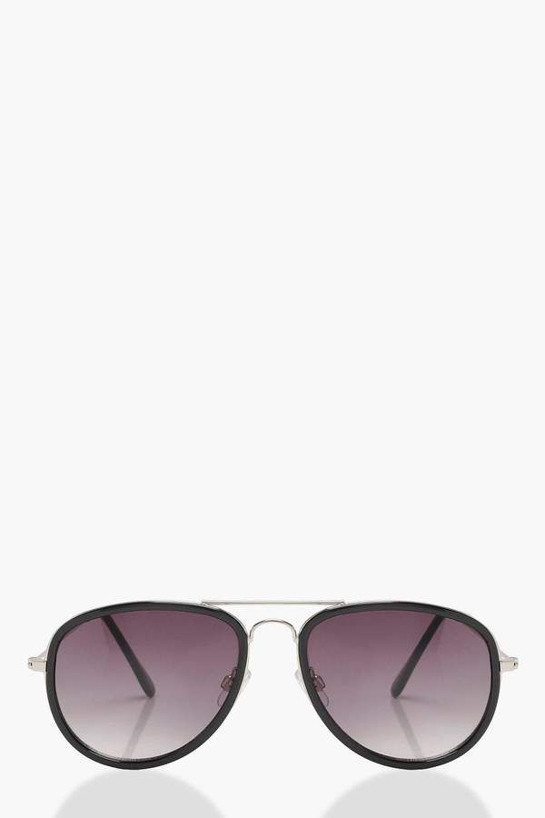 3772a2f1b39d Linda Farrow Aviator-style metal sunglasses ( 330) ❤ liked on Polyvore  featuring accessories