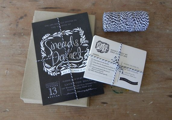 DIY Printable Wedding Invitation Blackboard Love  by LadyBPaperie, $95.00  @Devon Benson