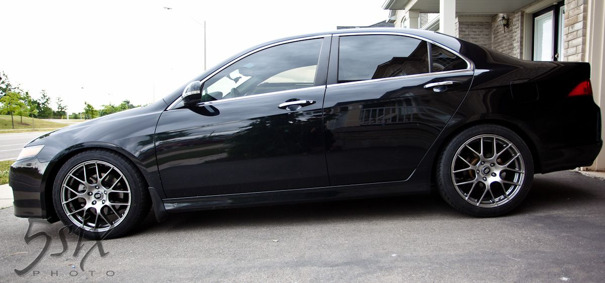 My Acura TSX Right After I Got My Wheels And Tint Car Also - Acura tsx lowering springs