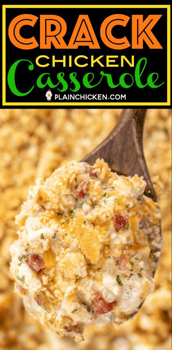 Crack Chicken Casserole - Plain Chicken