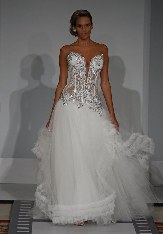 Cool Sexy bling corset Panina Tornai wedding dress love the top