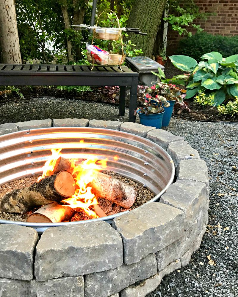 How to build a backyard fire pit average but inspired