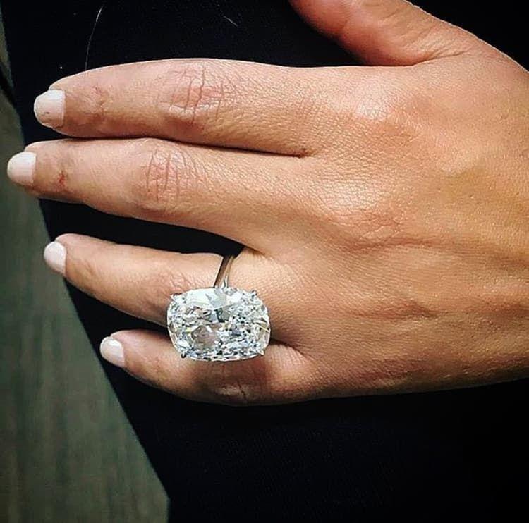 25 Carat Cushion Cut Diamond Ring On We Heart It
