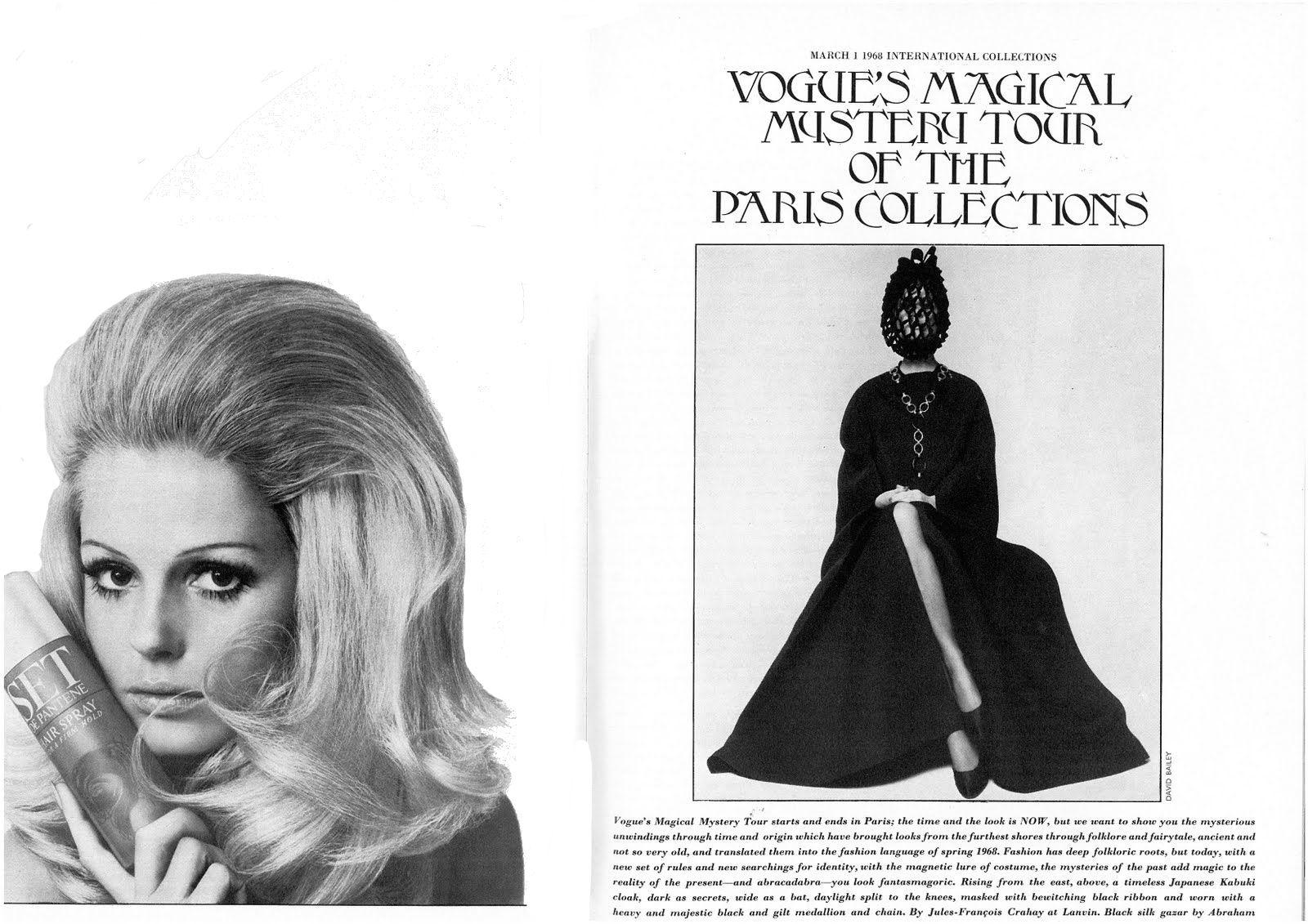 1968 hair spray ad.