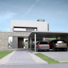 moderne Häuser von Chazarreta-Tohus-Almendra