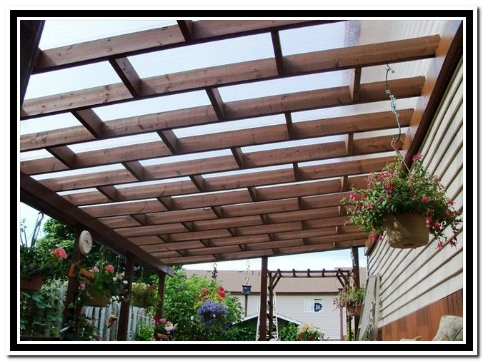 Clear roof panels for pergola kirkland home outdoors pinterest clear roof panels roof - Types patio roofing ...