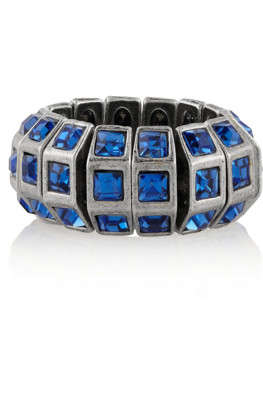 Marlène silver-plated Swarovski crystal ring by Philippe Audibert