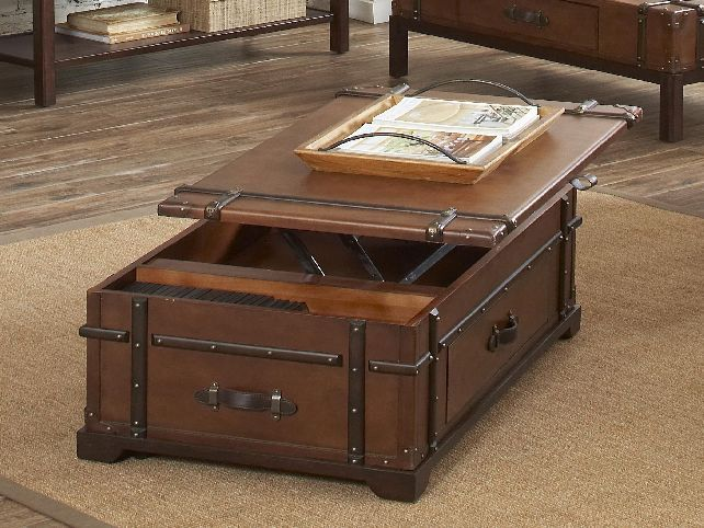 If You Re One Of Those Who Simply Adore The Concept Treasure Chests May Be Able To Own Soon As Steamer Trunk Coffee Lift Top Table