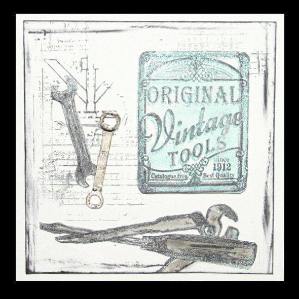 karte f r einen mann vintage tools von daniela rogall. Black Bedroom Furniture Sets. Home Design Ideas