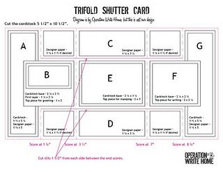 Measurements Trifold Shutter Cards Tri Fold Cards Card Tutorial