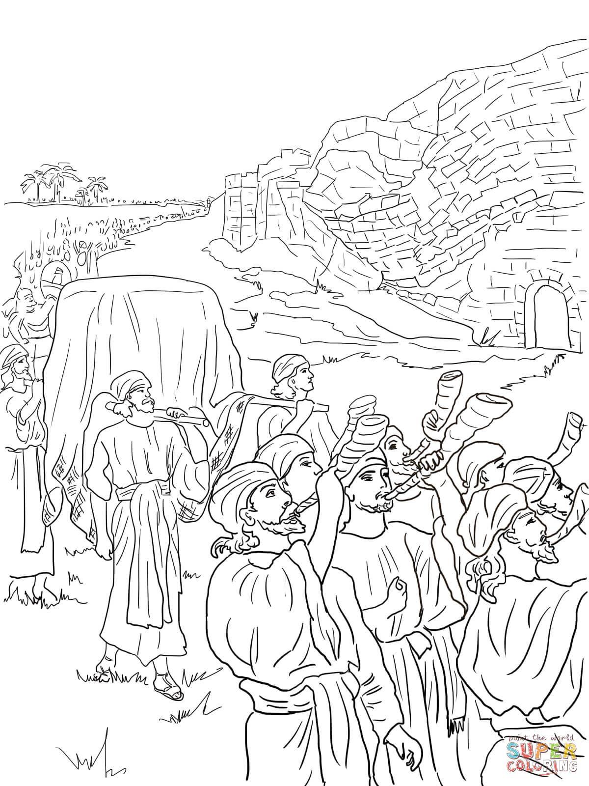 Walls Of Jericho Colo Google S. Coloring Page Of Joshua