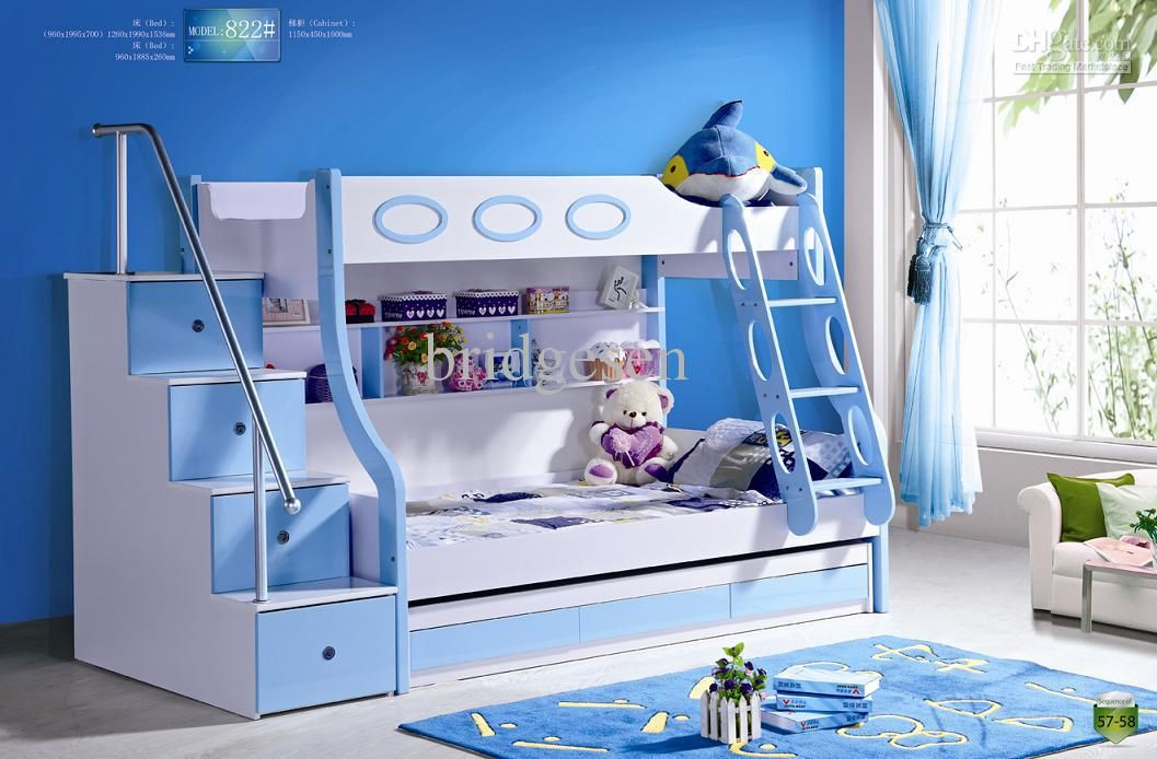 kids bunk bed with stairs. Wholesale MDF Panels Children Bunk Bed With Stairs And Drawer, $459.8/Piece | DHgate Kids I