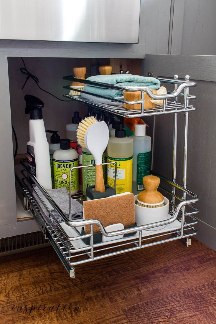 The Best Tips On How To Organize Under The Kitchen Sink Inspiration For Moms In 2020 Kitchen Sink Inspiration Under Kitchen Sinks Kitchen Cabinets Under Sink