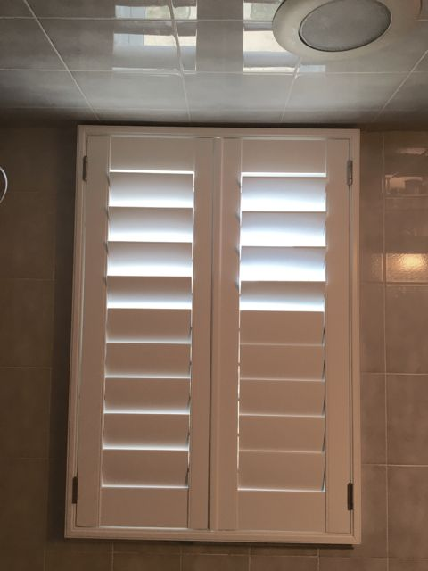 majestic wooden blinds for bathrooms. ASAP Blinds is the hidden tilt bar plantation shutter specialist on  Jersey Shore This white with
