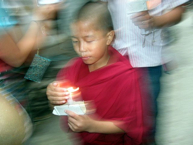 activism and prayer combine in Dharamsala...img copyright Tammy Winand
