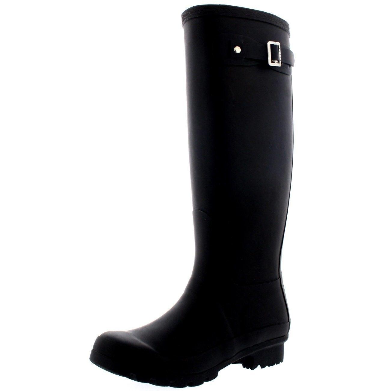 31c0ca178 56.72 | Womens Original Tall Snow Winter Wellington Waterproof Rain Wellies  Boot Black 9 ❤ #womens #original #winter #wellington #waterproof #wellies  ...