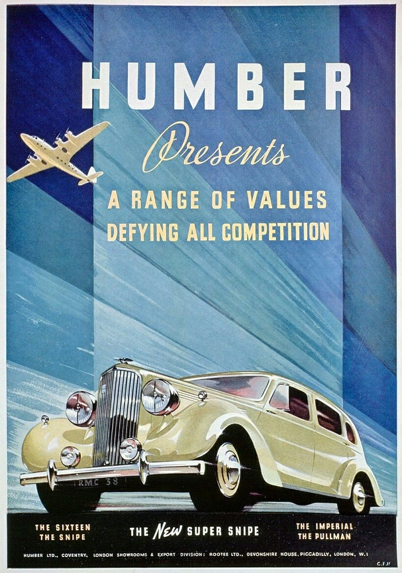 1938 Humber Super Snipe. The Super Snipe depicted in this ad was a ...