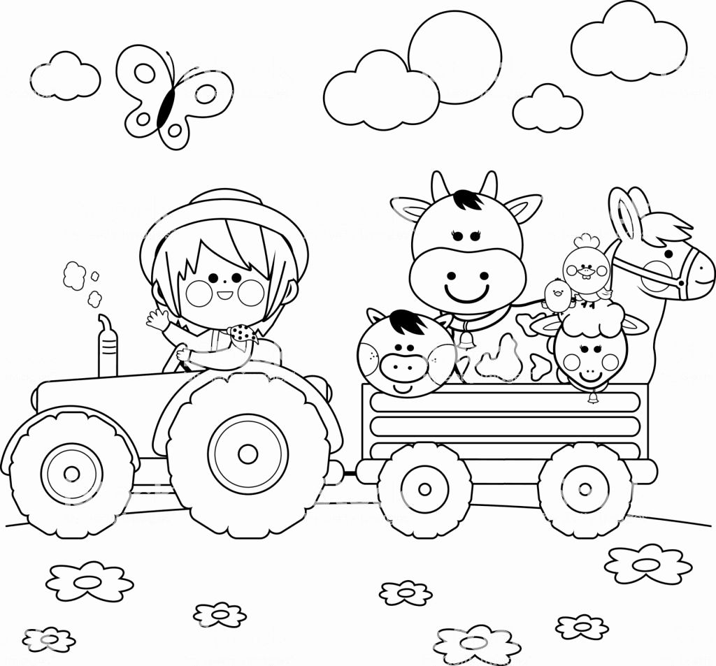 Farm Animals Coloring Pictures In