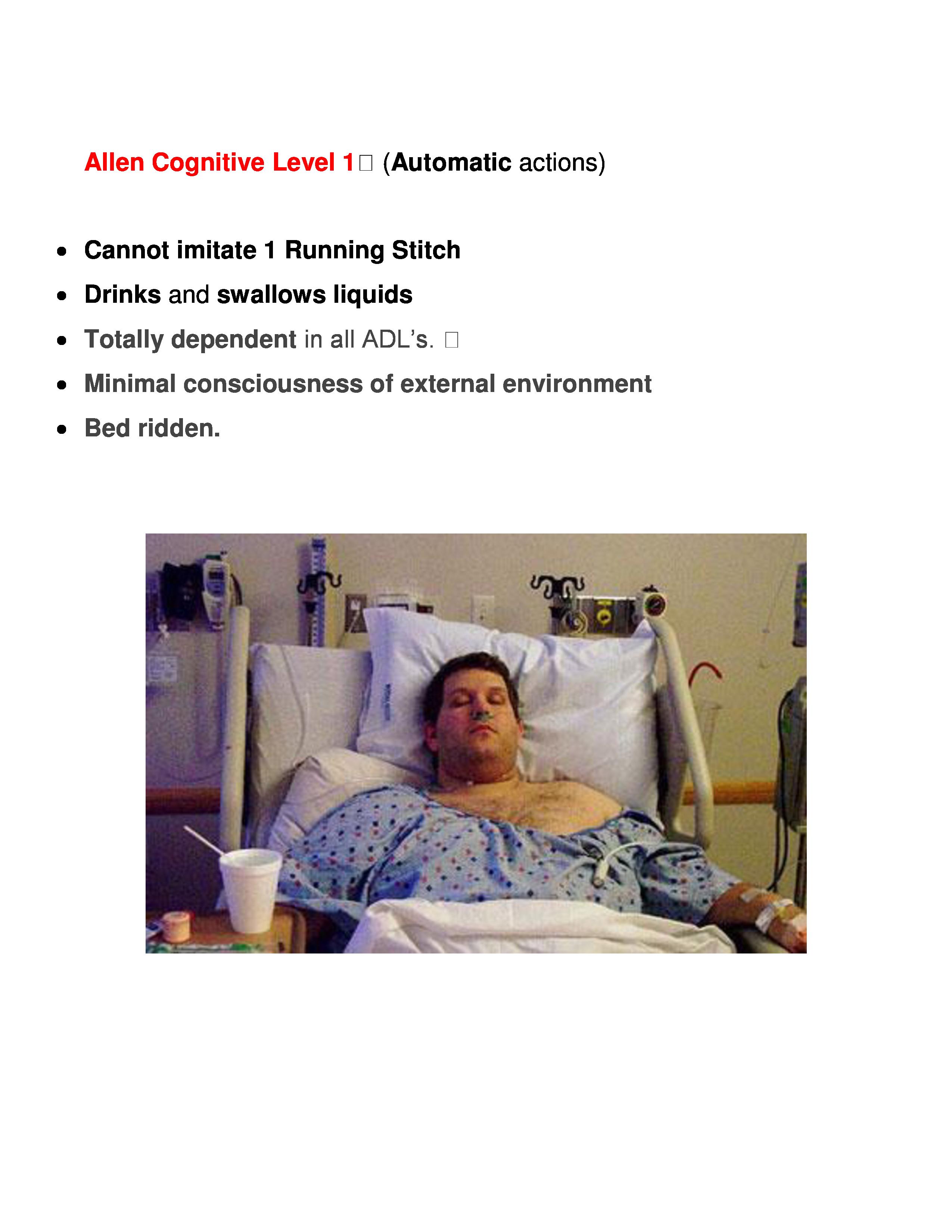 Allen Cognitive Level 1
