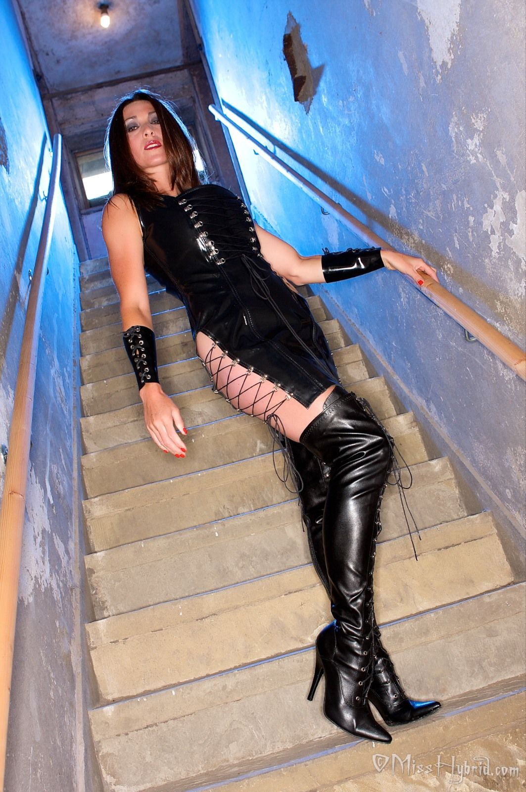 Latex Rubber Thigh Boots Rubber Fetish